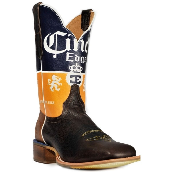 Cinch Western Boots Mens Cerveza Vivid Flex Square Chocolate