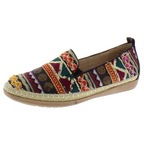 Beacon Womens Terri Loafers Faux Leather Slip On - Multi/Aztec