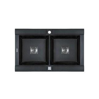 Jacuzzi AS-GE20RZUSSK Astracast? Granite Composite Double Basin Drop-In Kitchen Sink