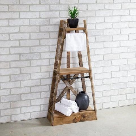 Furniture Pipeline Magnolia Tiered Tapered Shelf
