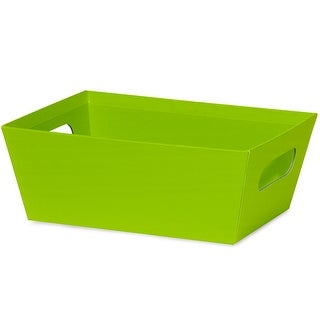 """Pack Of 6, Solid Lime Green Large Wide Base Tray 5.5"""" X 7.5""""X 3.5"""" For Gourmet Gift Baskets, Food Baskets"""