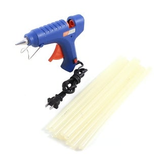 AC100-240V US Plug Hot Melt Glue Gun 60W + 10Pcs 11x300mm Adhesive Sticks