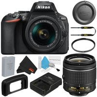 Nikon D5600 DSLR Camera with 18-55mm VR AF-P Lens Deluxe Bundle (Intl Model)