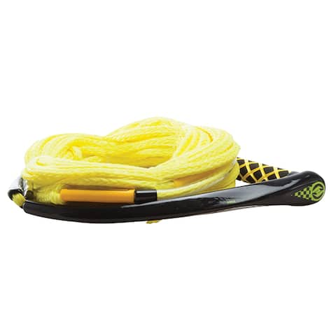 Hyperlite apex pe eva handle 65' wakeboard rope - yellow