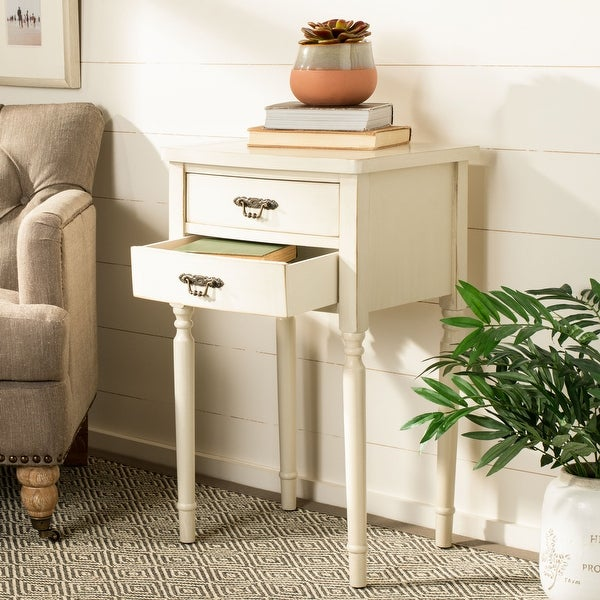 "Safavieh Manchester Light Grey Accent Table - 18.1"" x 15"" x 30.1"". Opens flyout."