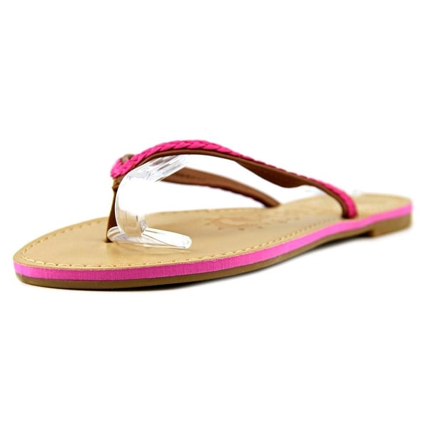 Sunny Feet Norris-16 Women Open Toe Synthetic Pink Thong Sandal