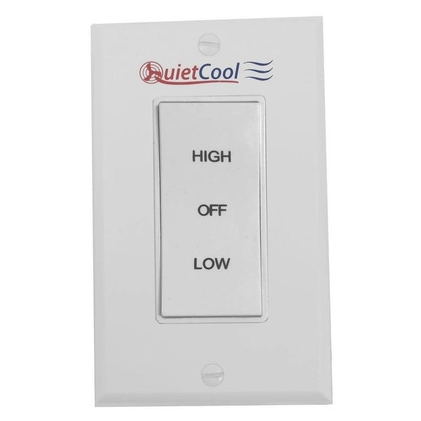 QuietCool IT-35000 Single Rocker Switch with White Plate - N/A