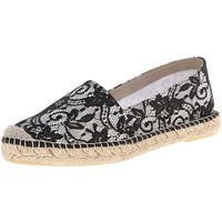David Tate Womens Sorento Fabric Closed Toe Espadrille Flats
