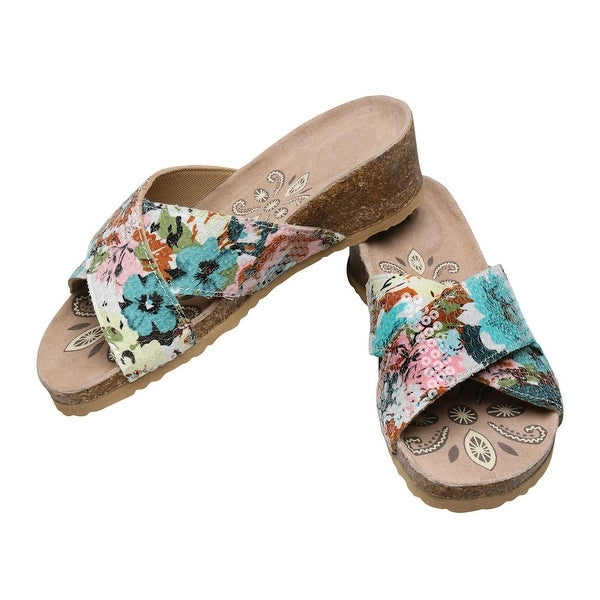 Women's Low Heel Wedge Helene Crisscross Sandals