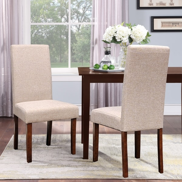 Seville Linen Dining Chairs Set Of 2 On Sale Overstock 5954255
