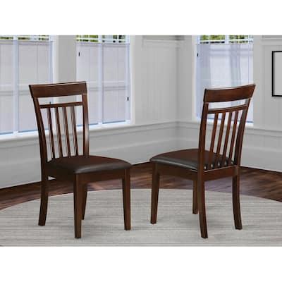 Mahogany Capri Slat Back Chair in Mahogany Finish - Set of 2 (Chairs Option)