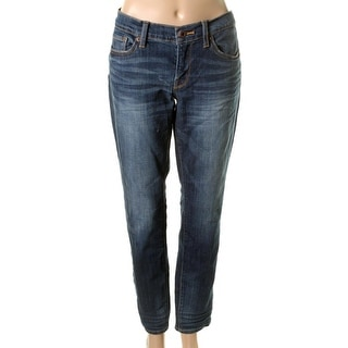 Lucky Brand Womens Charlie Low-Rise Dark Wash Skinny Jeans