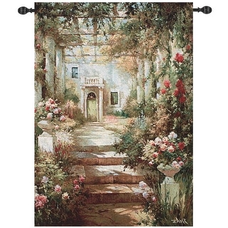 "Summer Garden Pergola Cotton Tapestry Wall Art Hanging 47"" x 35"" - N/A"