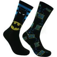 DC Comics Batman Casual Socks - 2 Pack, 6-12