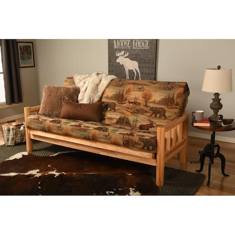 Copper Grove Yellowstone Natural Full-size Futon Frame and Mattress Set