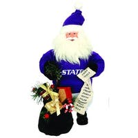 "10"" NCAA Kansas State Wildcats Gift Bearing Santa Christmas Table Top Figure"