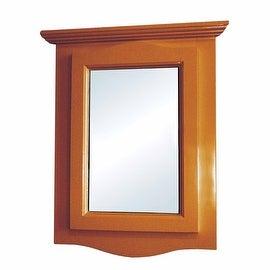 Golden Oak Medicine Cabinet Solid Hardwood Bathroom Corner Wall Mount Renovator's Supply