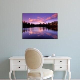 Easy Art Prints Janis Miglavs's 'Mt Hood Reflected In Mirror Lake' Premium Canvas Art