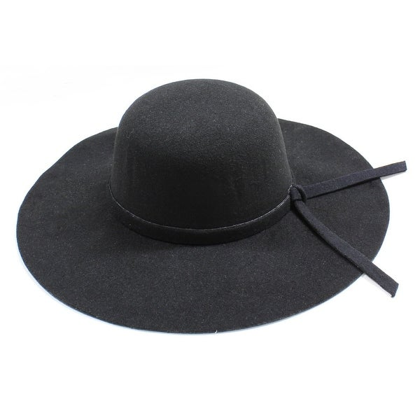 bf11fe10808 Shop Womens Wide Brim Floppy Felt Hat with Matching Tie - Free Shipping On  Orders Over  45 - Overstock - 12200429