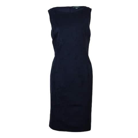 Lauren Ralph Lauren Women's Sleeveless Faux Suede Sheath Dress