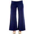 Plus Size Women's Brown Palazzo Pants Lose Fit Wide Leg Folding Waist Sexy Comfy - Thumbnail 5