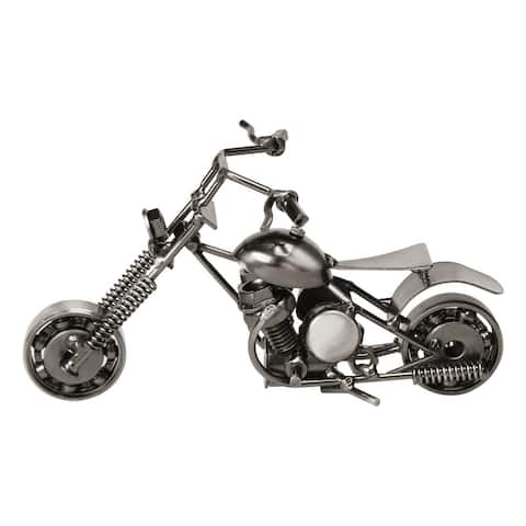 Handcrafted Metal Motorbike Model Creative Office Desktops Motorcycle - Black