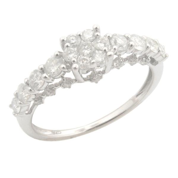 Attractive 0.81Ct Round Brilliant Cut Real Natural Diamond Designer Engagement Ring