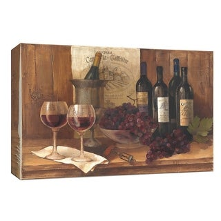 "PTM Images 9-153825  PTM Canvas Collection 8"" x 10"" - ""Vintage Wine"" Giclee Fruits and Wine Art Print on Canvas"