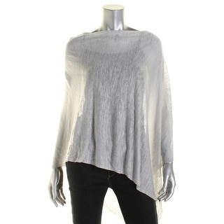 Eileen Fisher Womens Tencel Asymmetrical Poncho Sweater - o/s