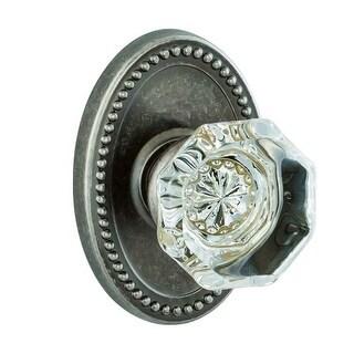 Miseno V-33 Scrivia Solid Brass Glass Privacy Door Knob Set