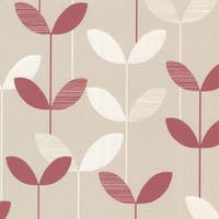 Brewster 2533-20204 Ernst Pink Linear Leaf Wallpaper