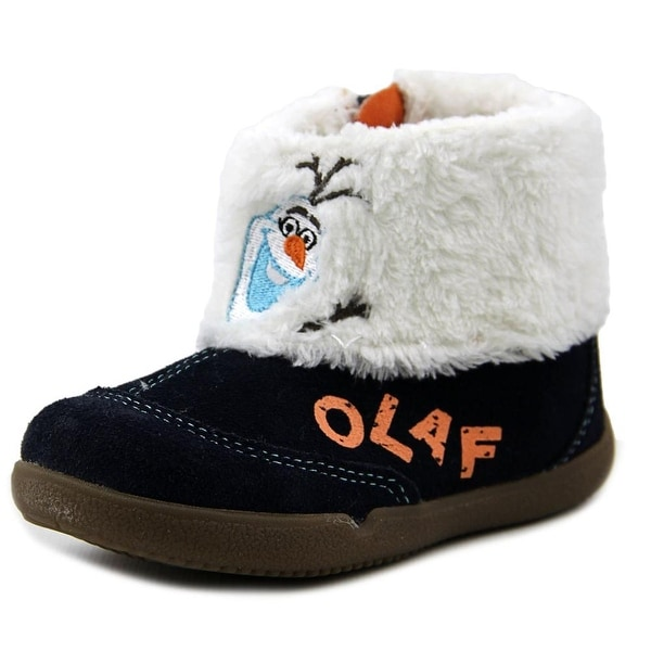 Stride Rite Frozen Olaf Boot Toddler W Round Toe Leather Blue Winter Boot