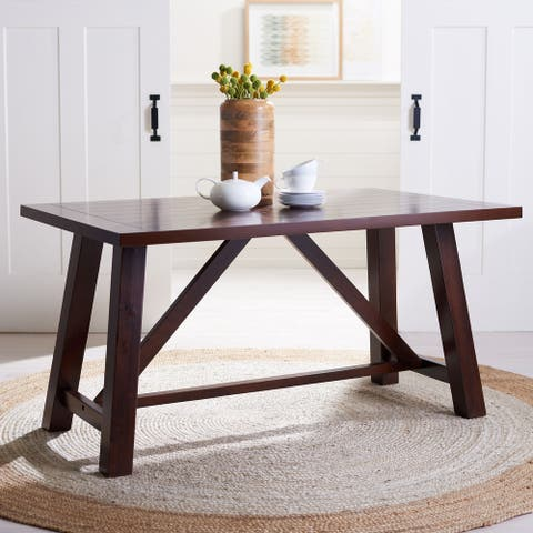 "Safavieh Ainslee Brown Rectangle Dining Table - 57"" W x 36"" L x 30"" H"