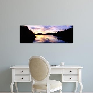 Easy Art Prints Panoramic Image 'Sunset over a lake, Saranac Lake, Adirondack Mountains, New York State' Canvas Art