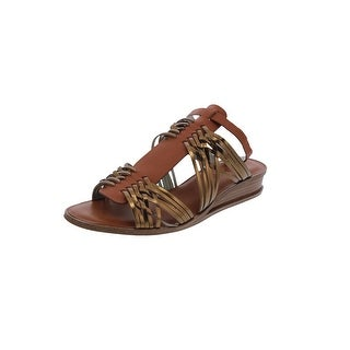 1.State Womens Maliyah Wedge Sandals Leather Open Toe