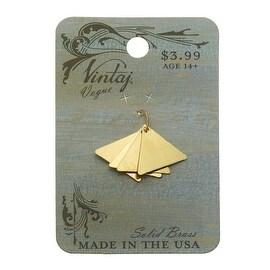 Vintaj Vogue Stamping Blanks, Triangle 14mm, 4 Pieces, Brass