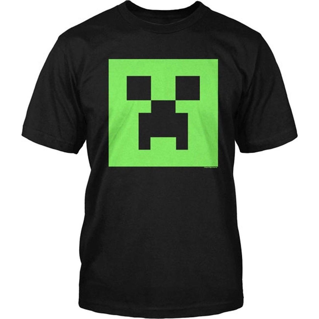 Minecraft Boys Creeper Button Down Shirt