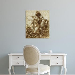 Easy Art Prints Leonardo da Vinci's 'Study for the Kneeling Leda' Premium Canvas Art