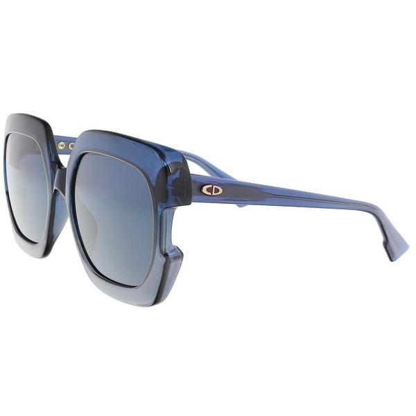 e0f641b88d02e Shop Christian Dior DIORGAIA 0PJP Blue Square Sunglasses - 58-20-140 ...