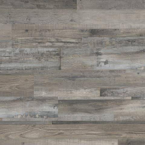 "MSI VTG6X48-2MM-12MIL-WO Glenridge 6"" Wide Waterproof Smooth White Oak-Imitating Luxury Vinyl Planks -"