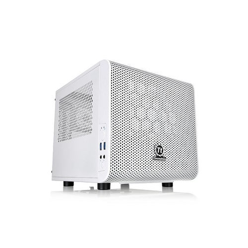 Thermaltake Ca-1B8-00S6wn-01 Core V1 Snow Edition Extreme Mini Itx Cube Chassis