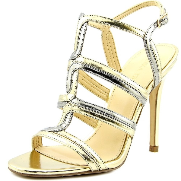 Ivanka Trump Hazen Women Open-Toe Patent Leather Slingback Sandal