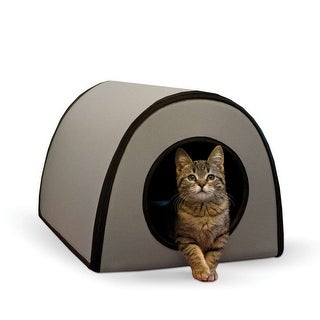 """K&H Pet Products Mod Thermo-Kitty Shelter Gray 15"""" x 21.5"""" x 13"""""""