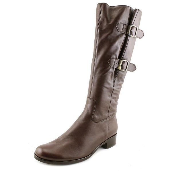 Gabor 31.503 Women Round Toe Leather Brown Mid Calf Boot
