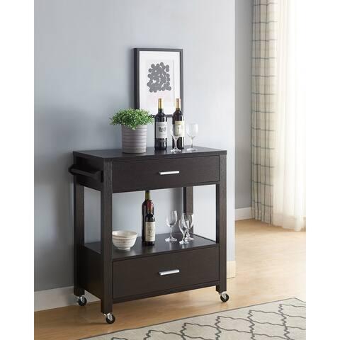 Furniture of America Newsom Modern 2-drawer Serving Cart