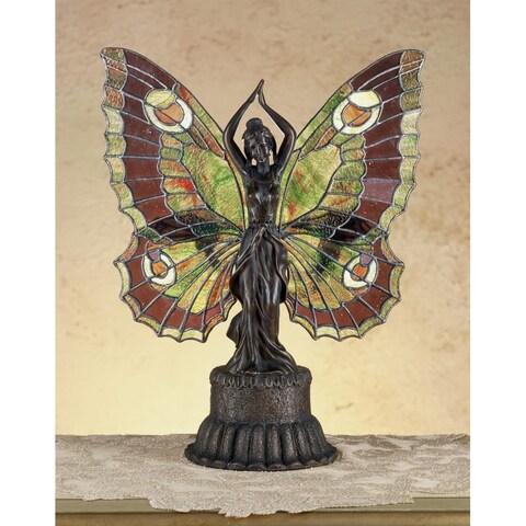 Meyda Tiffany 48018 Tiffany Two Light Specialty Accent Table Lamp - tiffany glass - n/a