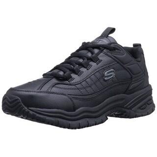 Skechers for Work Men's Soft Stride Galley Work Boot,Black