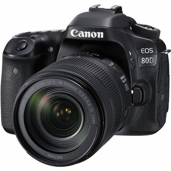 Canon EOS 80D DSLR Camera with 18-135mm Lens (Intl Model)