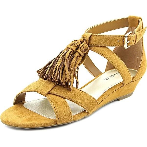 Indigo Rd. Nandy 2 Women Open Toe Synthetic Tan Wedge Sandal