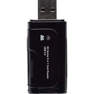 Gear Head CR6800 Gear Head CR6800 5-in-1 USB 2.0 Flash Card Reader - 5-in-1 - miniSD, SD, SDHC, MultiMediaCard (MMC), microSD,